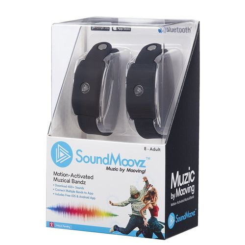 SoundMoovz - Pulseras Music By Moving Negras