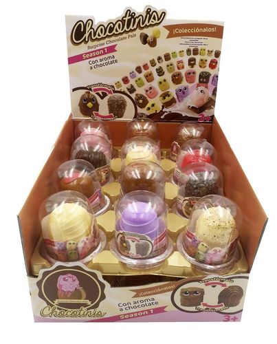 Chocotinis peluche transformable con olor Display 24 unds