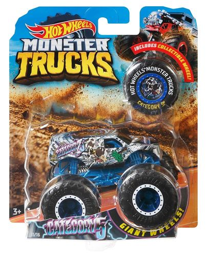 Hot Wheels-Monster Truck Coches de Juguetes 1:64 Surtido
