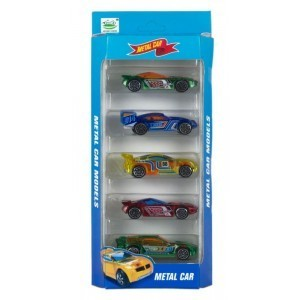 Set 5 Coches de Metal