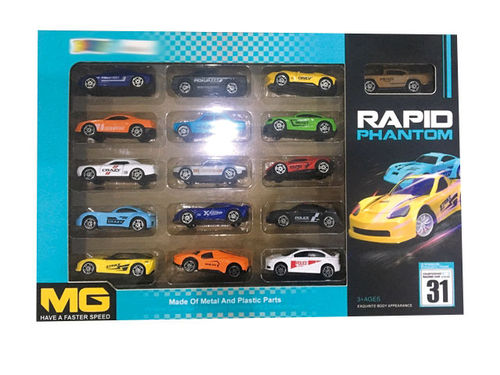 Set de 16 Coches Metal