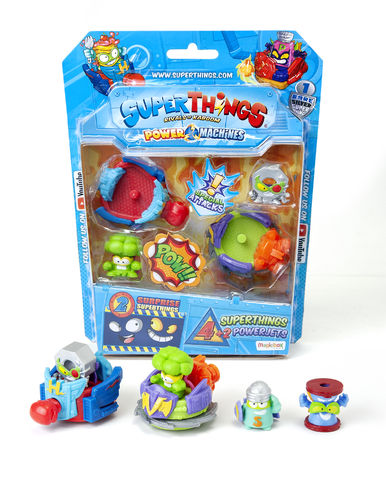 SUPERTHINGS POWER MACHINES BLISTER 4