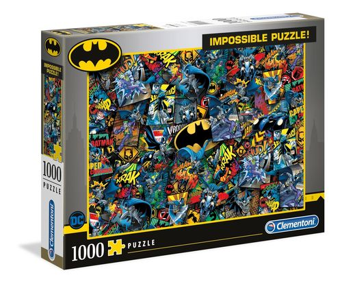 Clementoni - Batman - 1000 piezas - Impossible Puzzle