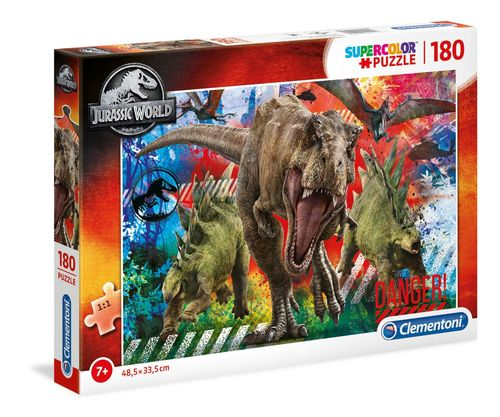Clementoni - Jurassic World - 180 piezas - Supercolor Puzzle